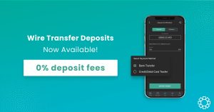 Wire Transfer Deposits with 0% Fees